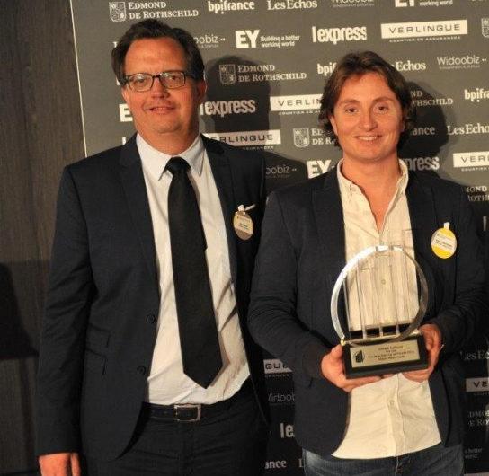 Prix EY Entrepreneur de l'année remis à Vincent Daffourd